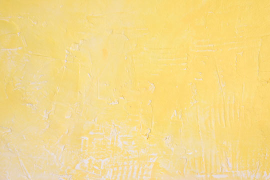 Plaster Wall painted yellow